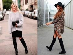 Como usar botas over the knee? Musas do street style dão a letra...
