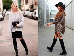 Como usar botas over the knee? Musas do street style dão a letra...